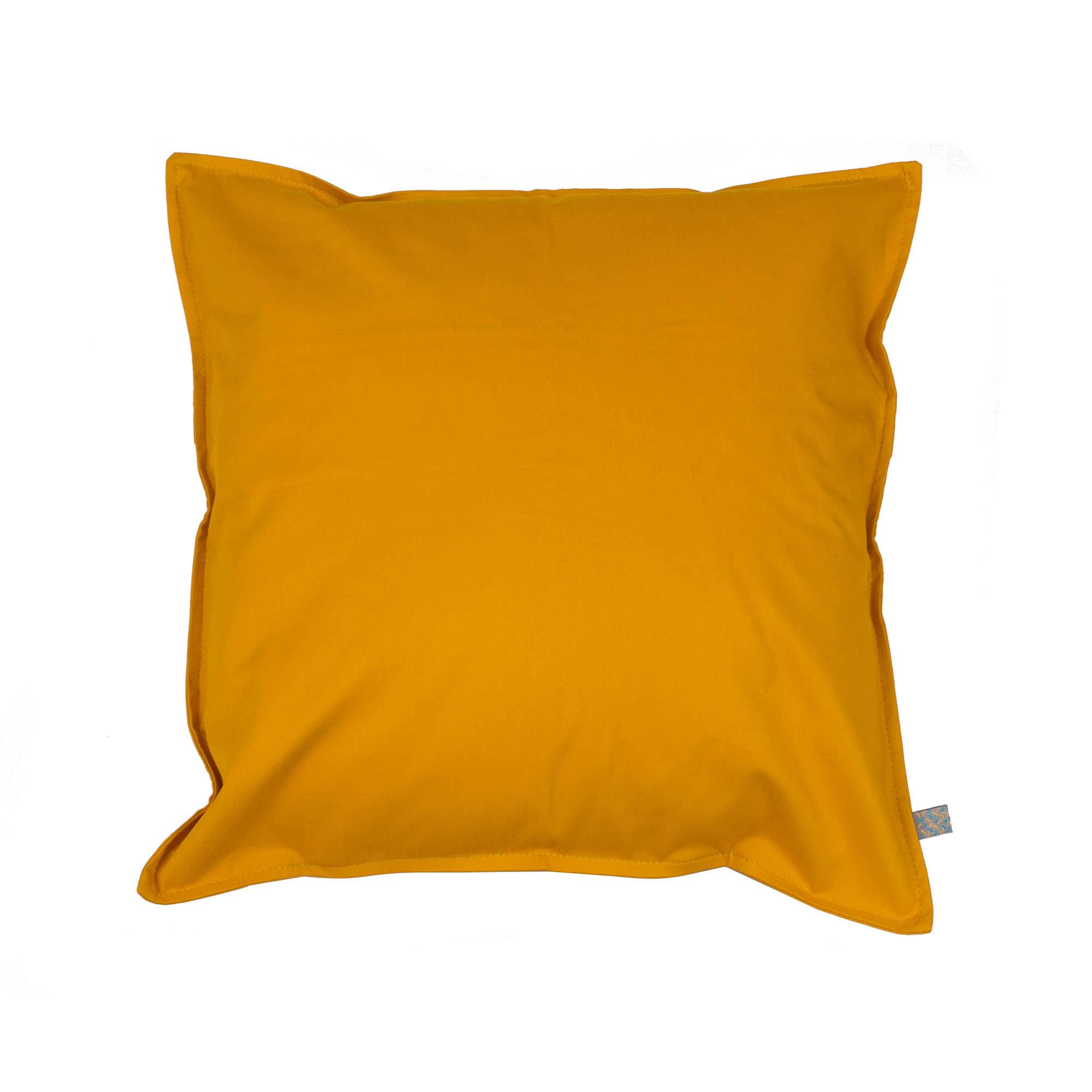 Capa de almofada em pesponto 45 cm x 45 cm mostarda