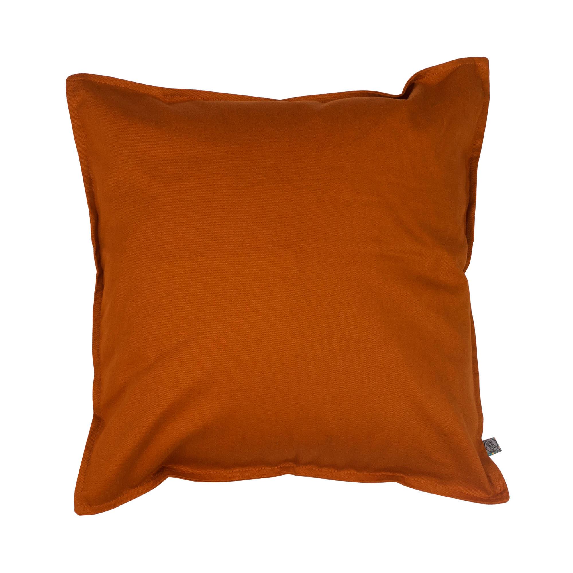 Capa de almofada em pesponto 45 cm x 45 cm ocre