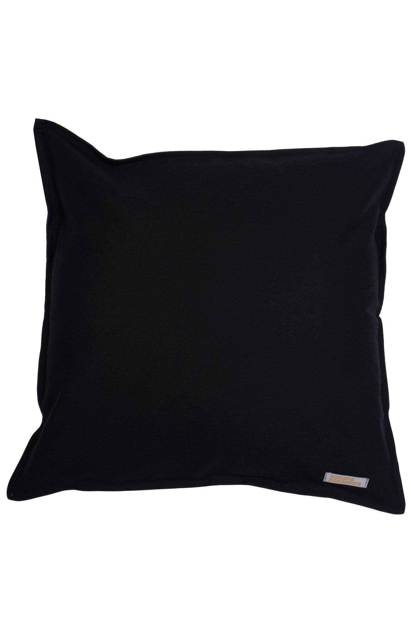Capa de almofada em pesponto 45 cm x 45 cm preta