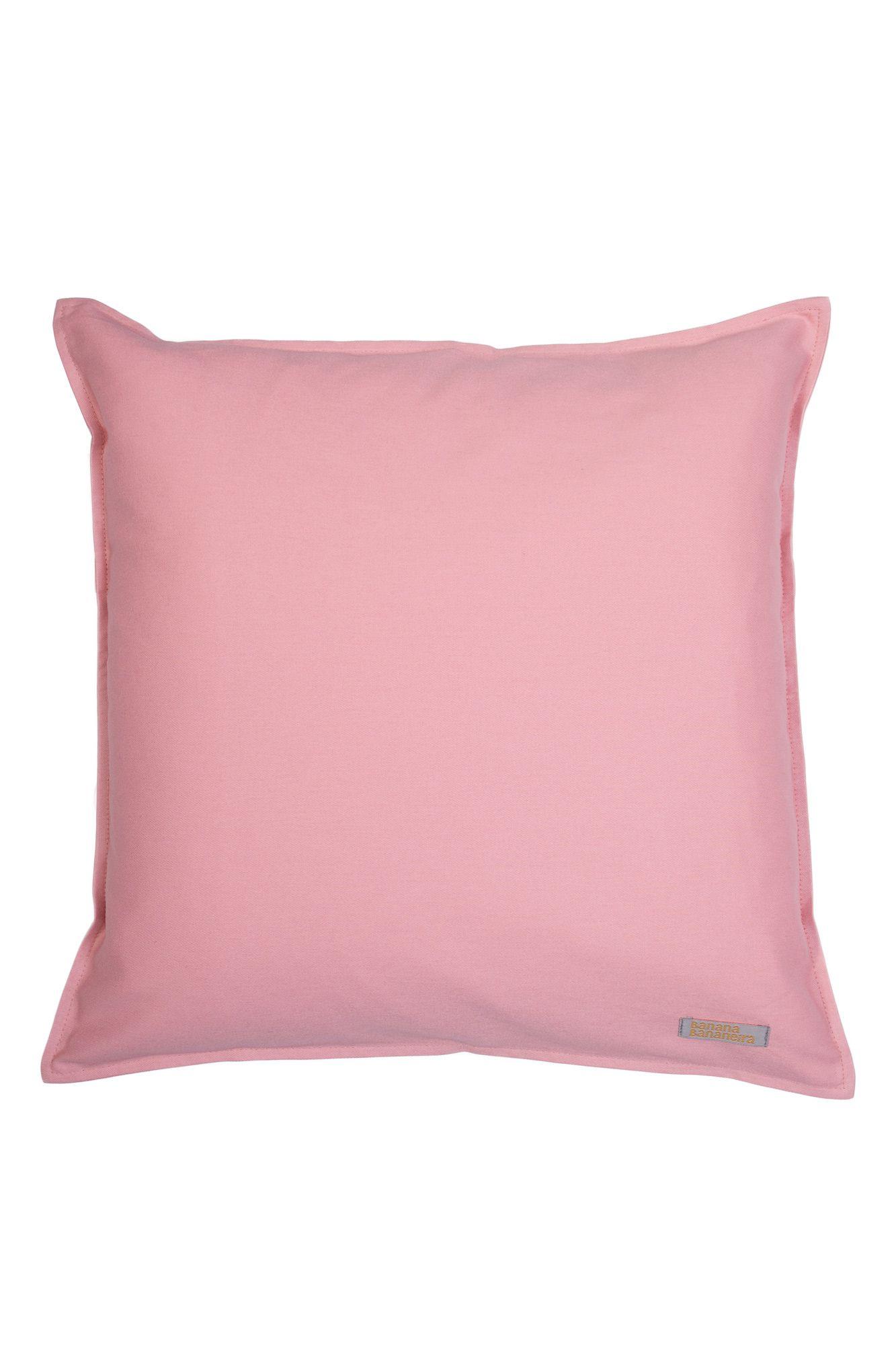 Capa de almofada em pesponto 45 cm x 45 cm rosa
