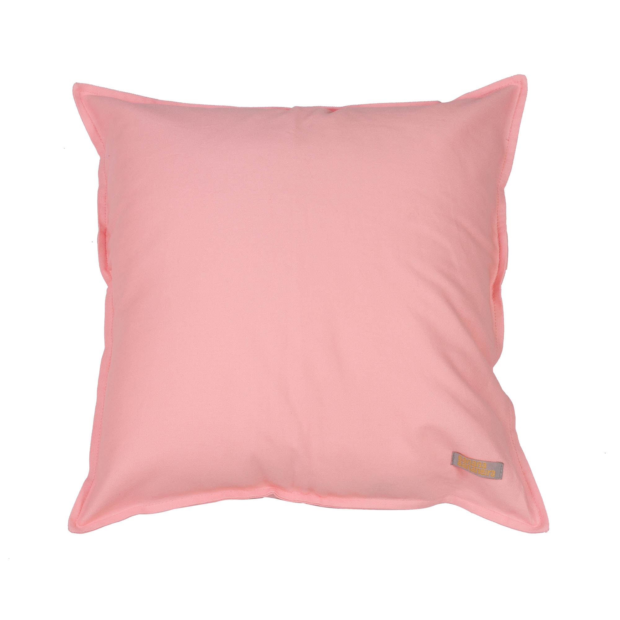 Capa de almofada em pesponto 45 cm x 45 cm rosa algodão doce