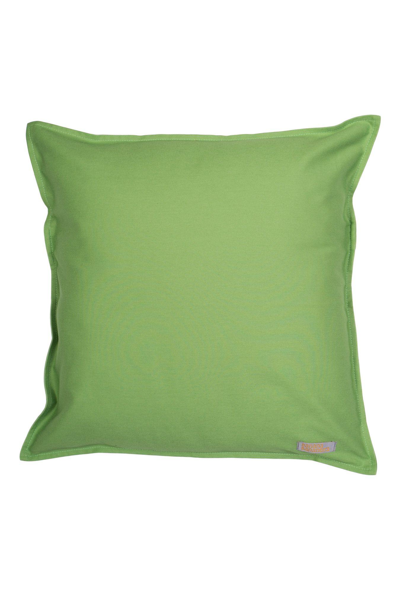 Capa de almofada em pesponto 45 cm x 45 cm verde