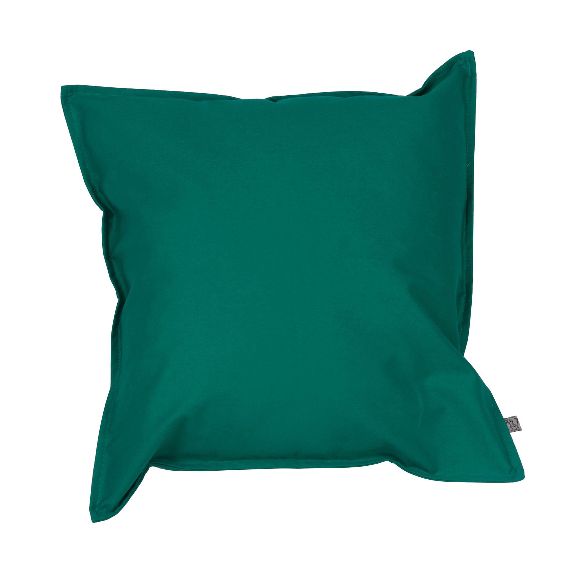 Capa de almofada em pesponto 45 cm x 45 cm verde esmeralda