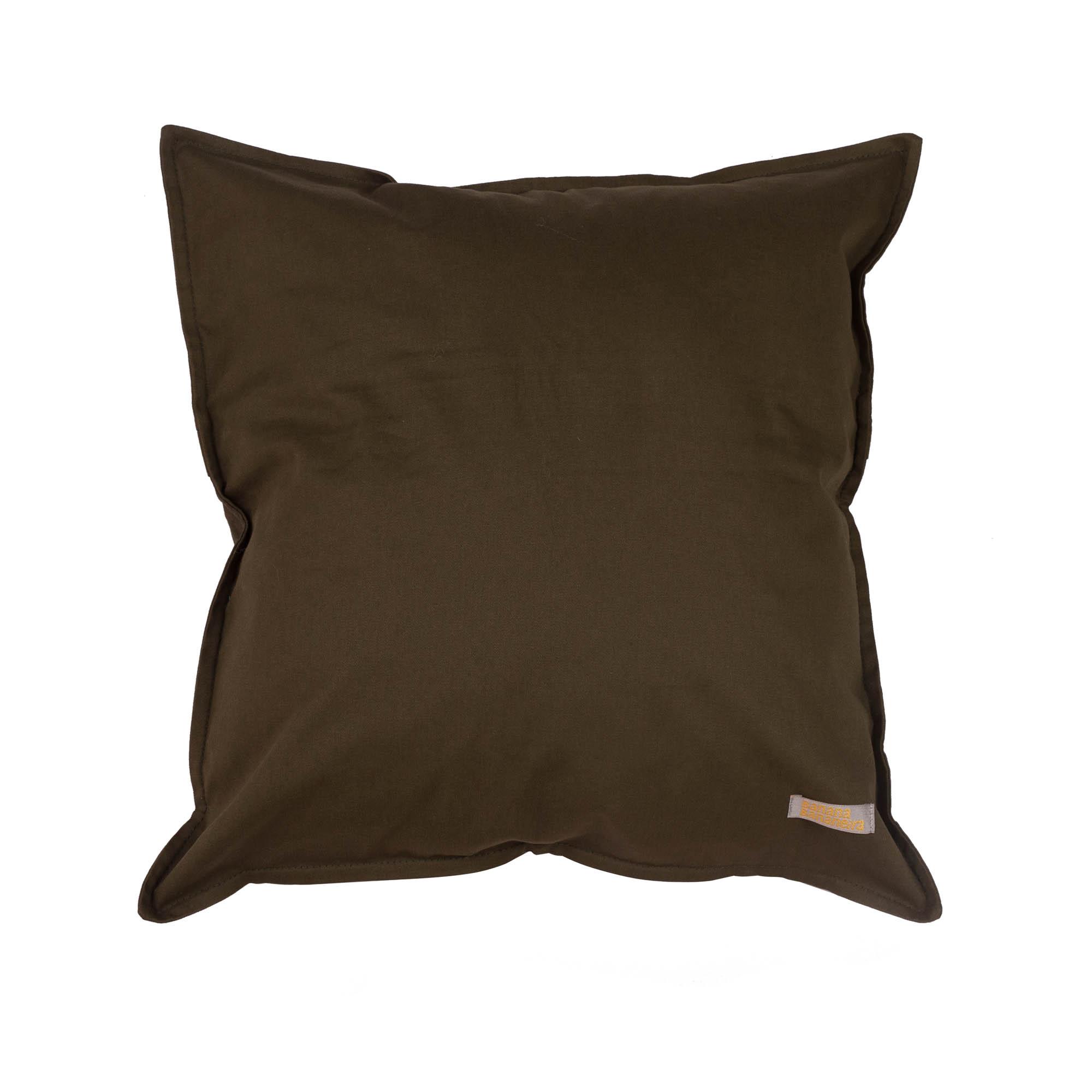 Capa de almofada em pesponto 45 cm x 45 cm verde militar