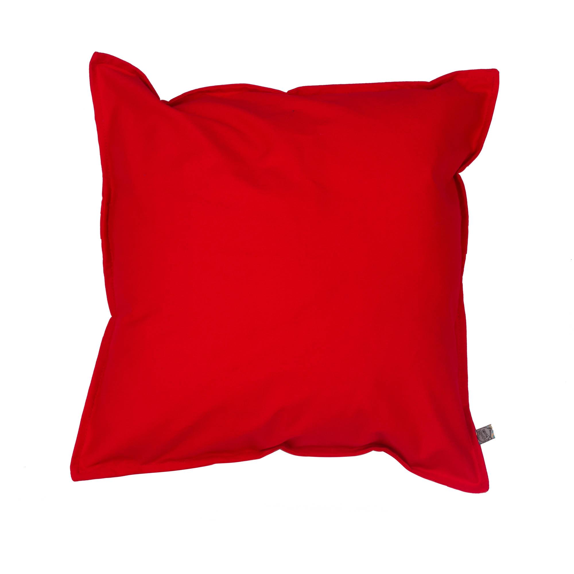 Capa de almofada em pesponto 45 cm x 45 cm vermelha