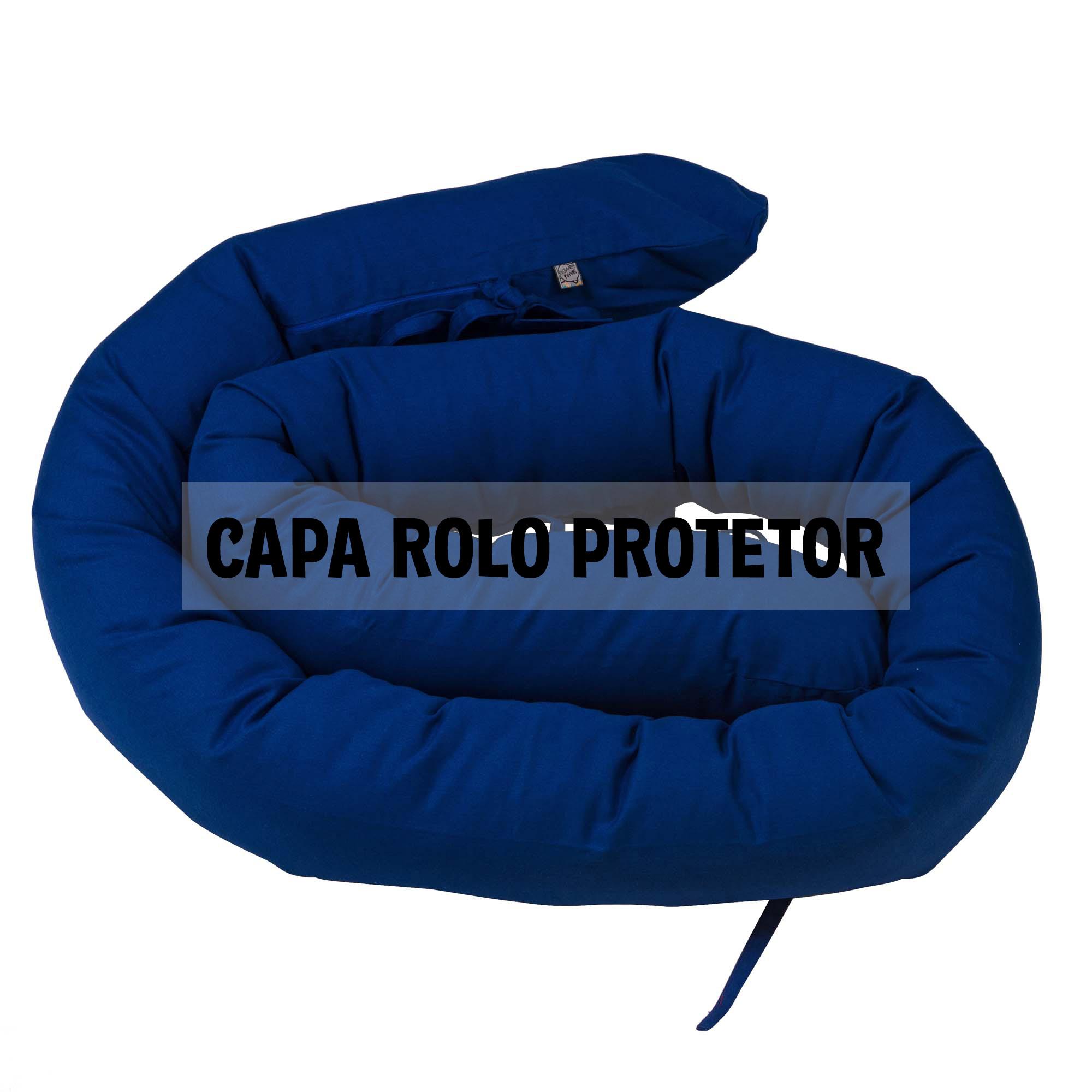 Capa de rolo protetor espaguete azul clássico