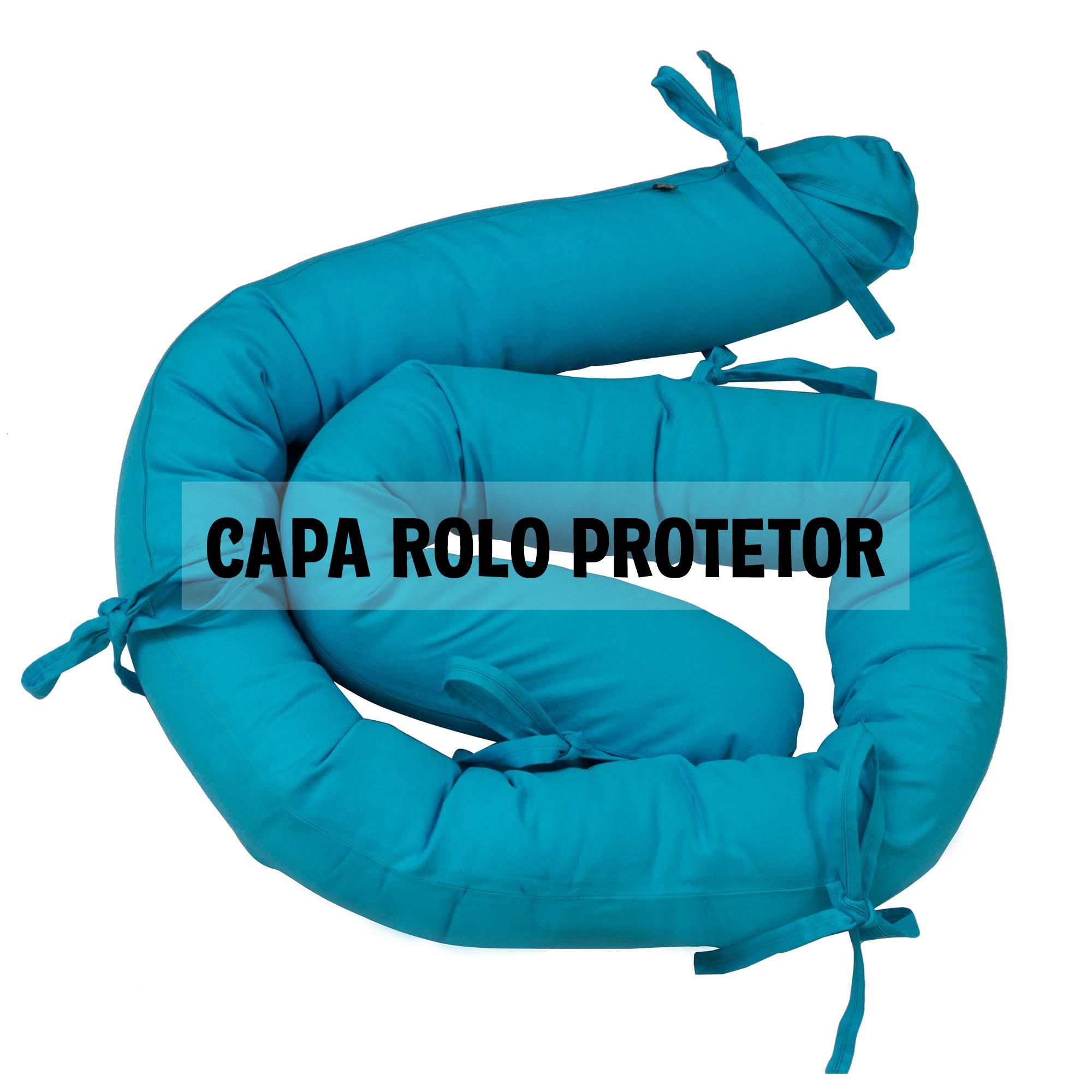Capa de rolo protetor espaguete azul turquesa