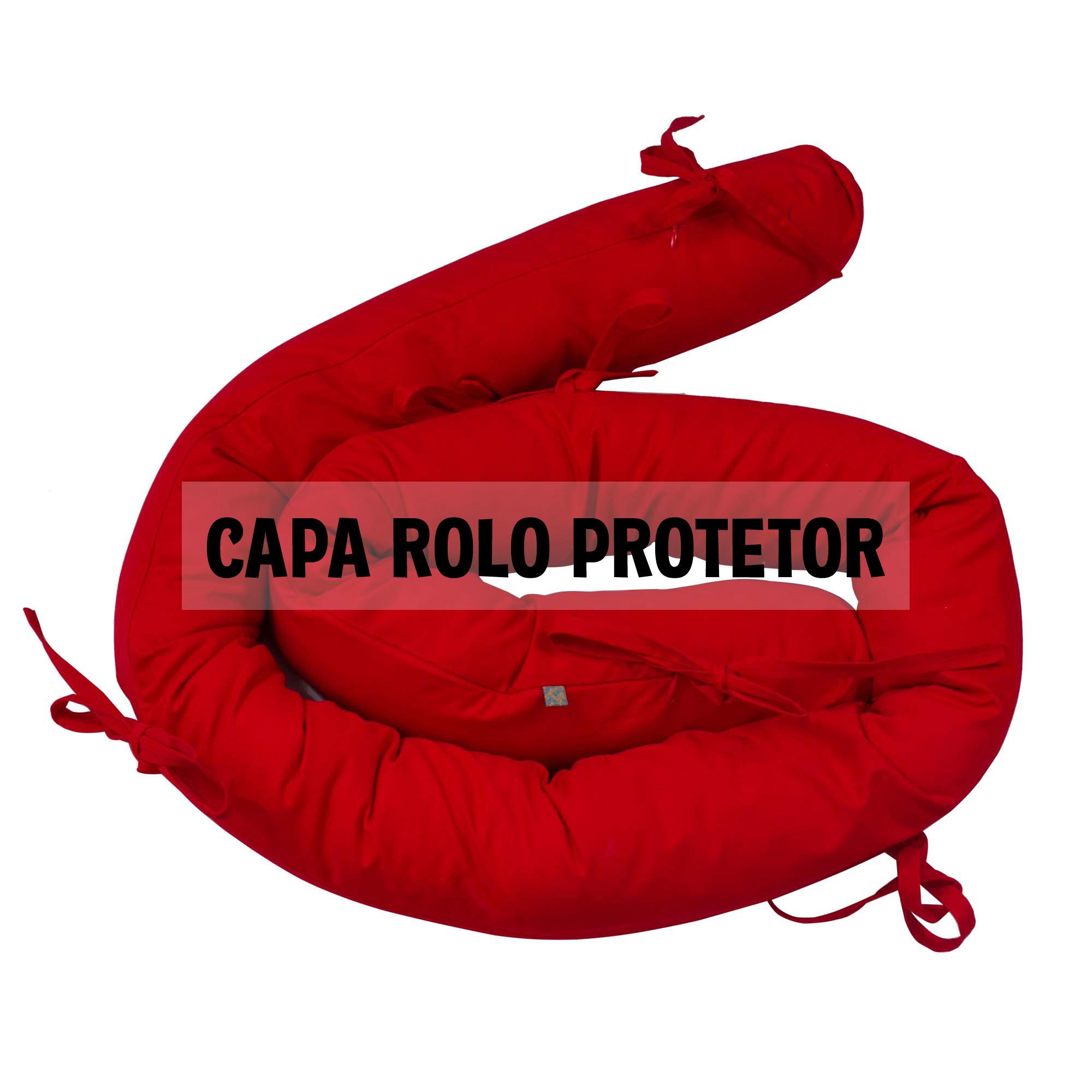 Capa de rolo protetor espaguete vermelho