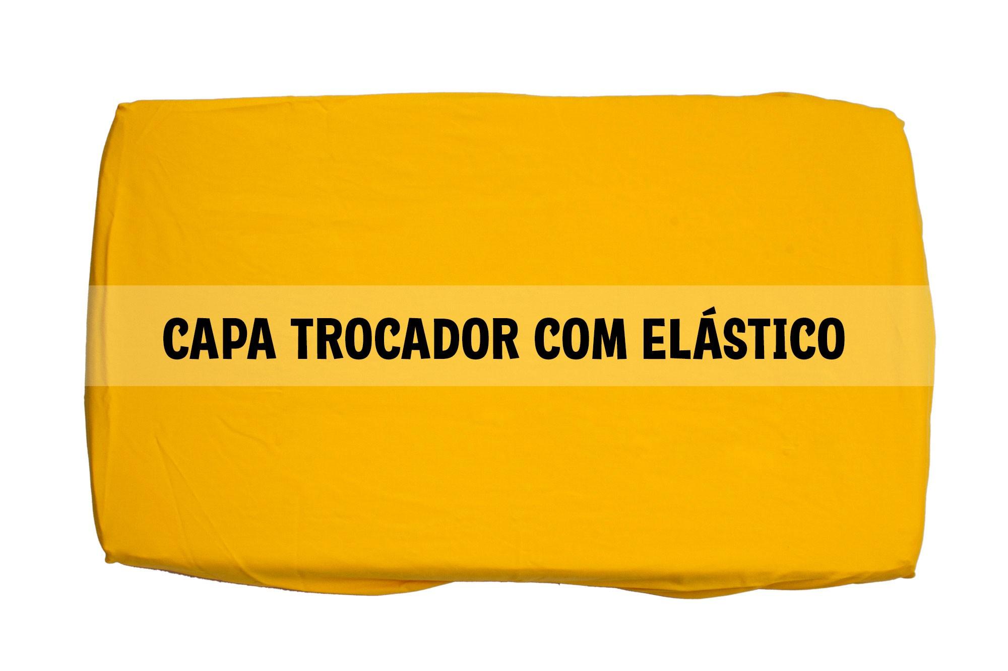 Capa trocador com elástico amarela