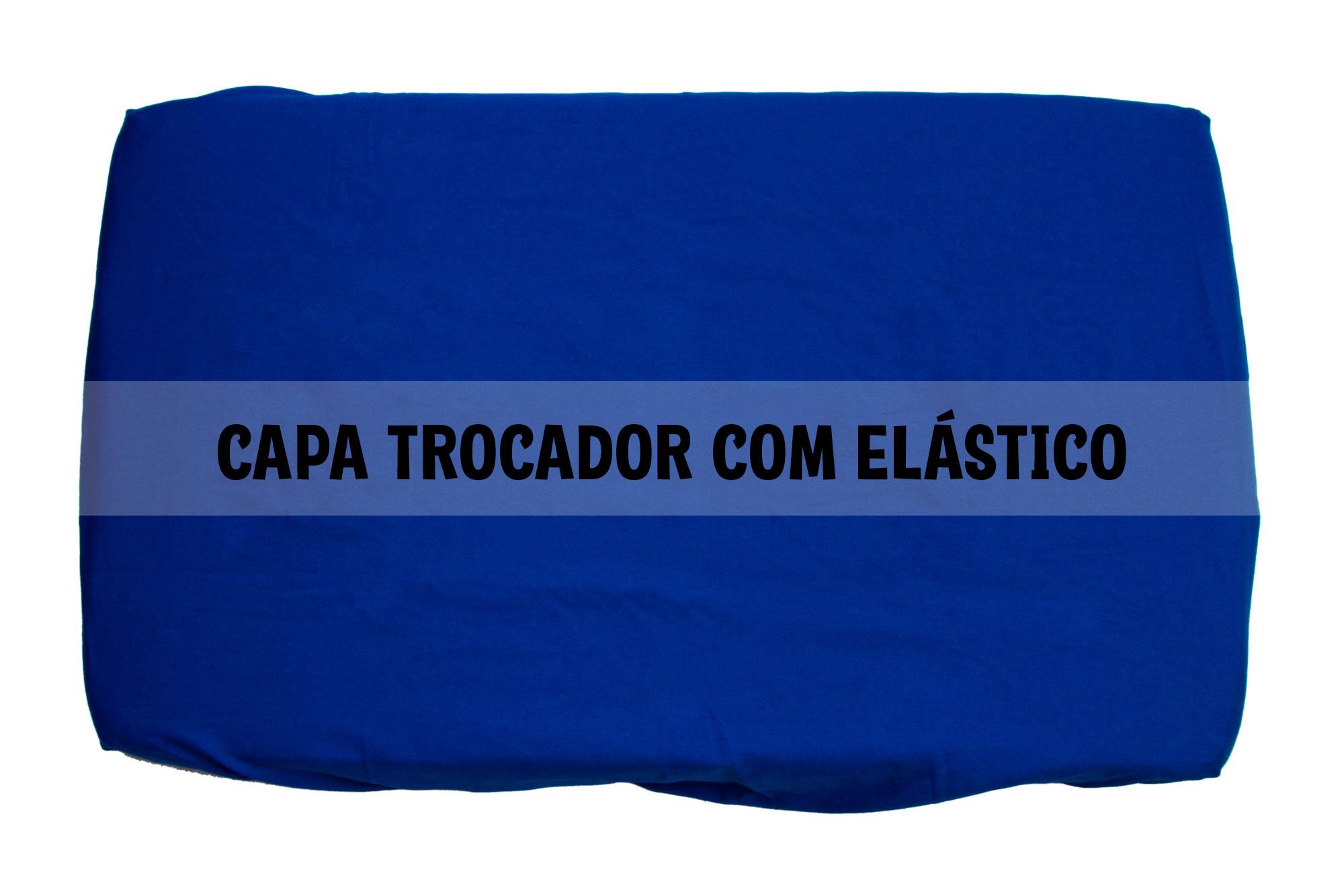Capa trocador com elástico azul royal