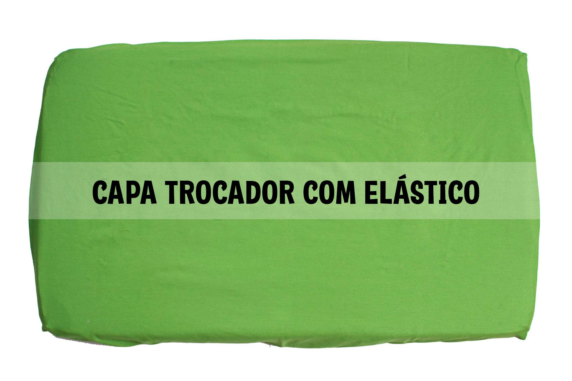 Capa trocador com elástico verde