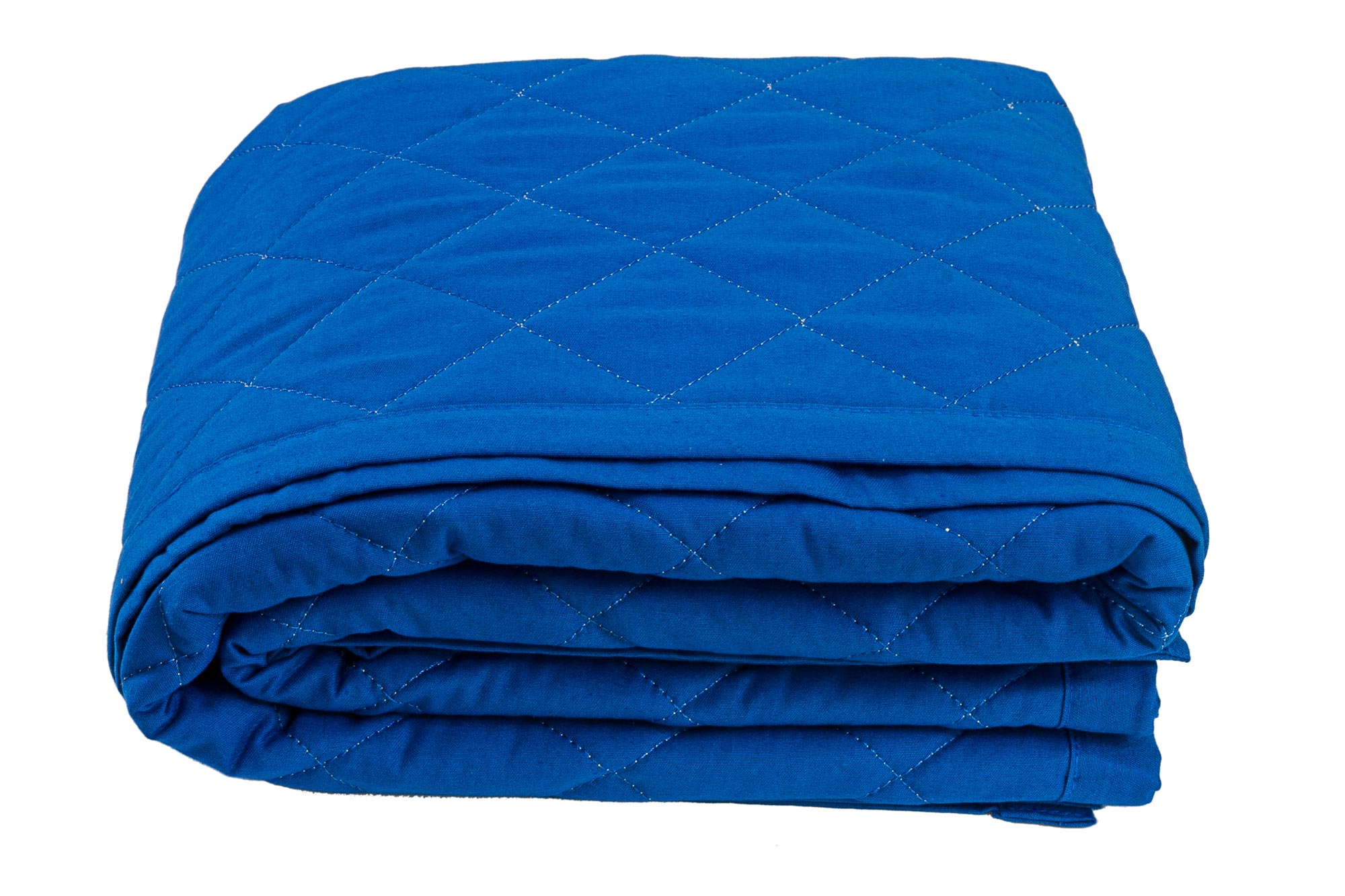 Colcha mini cama azul clássico e verde água