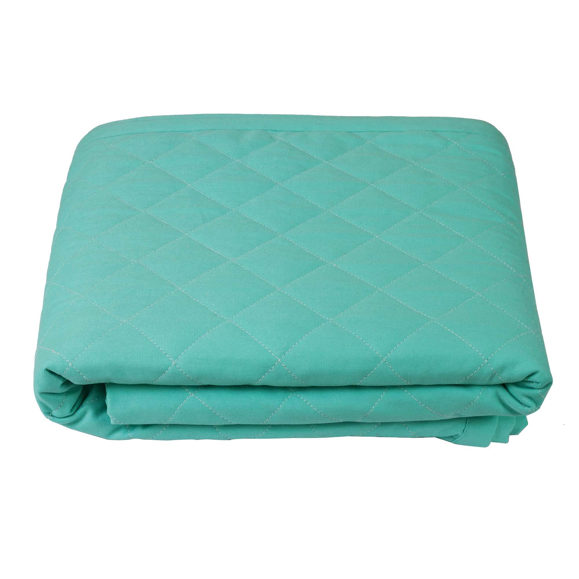 Colcha mini cama verde água e rosa algodão doce