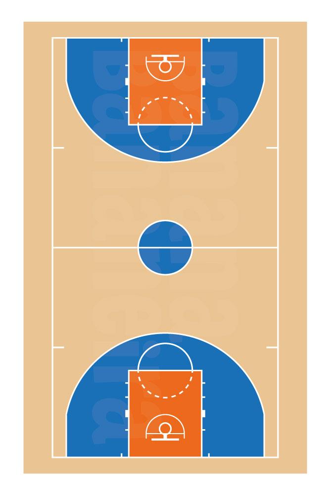 Coleção Esportes - Tapete playmat basquete