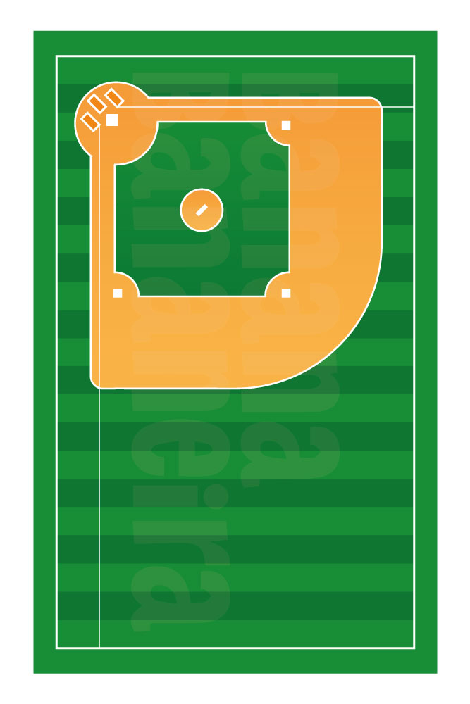 Coleção Esportes - Tapete playmat beisebol