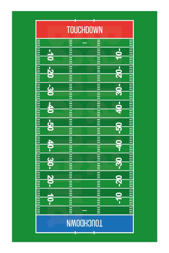 Coleção Esportes - Tapete playmat futebol americano