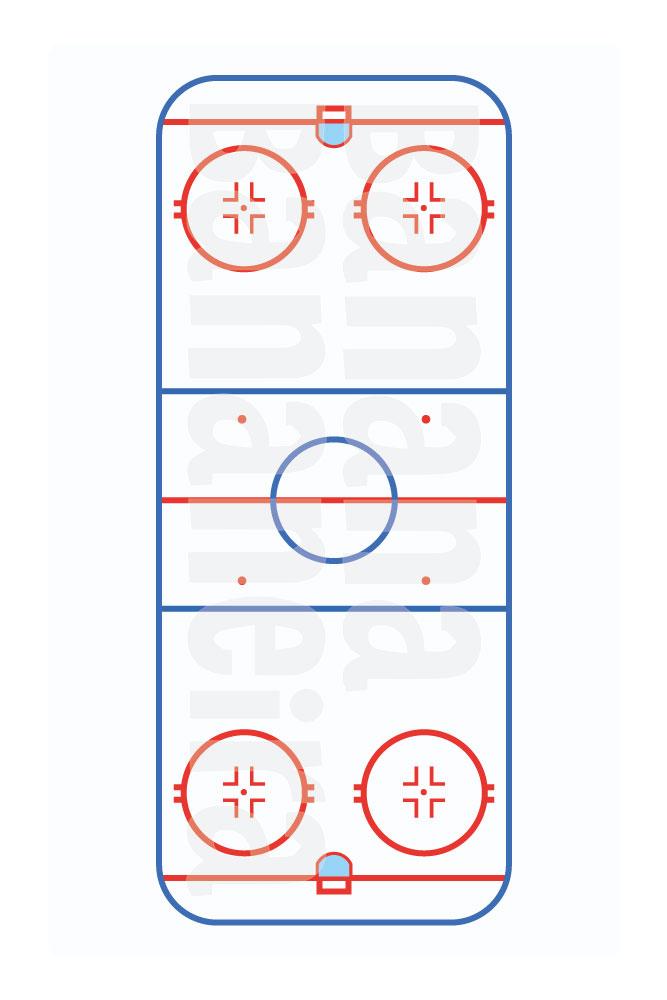 Coleção Esportes - Tapete playmat hóquei no gelo