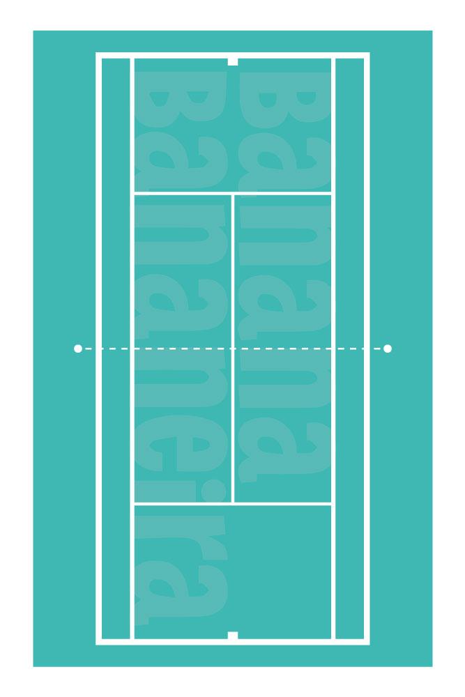 Coleção Esportes - Tapete playmat tênis quadra dura