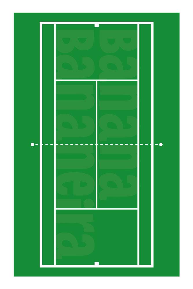 Coleção Esportes - Tapete playmat tênis quadra grama