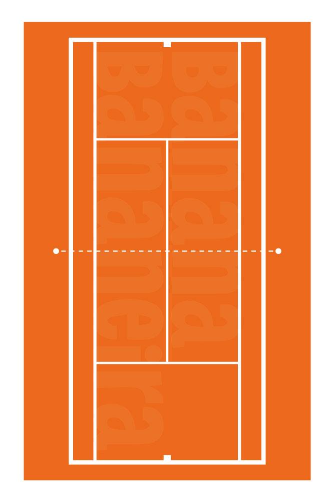 Coleção Esportes - Tapete playmat tênis quadra saibro