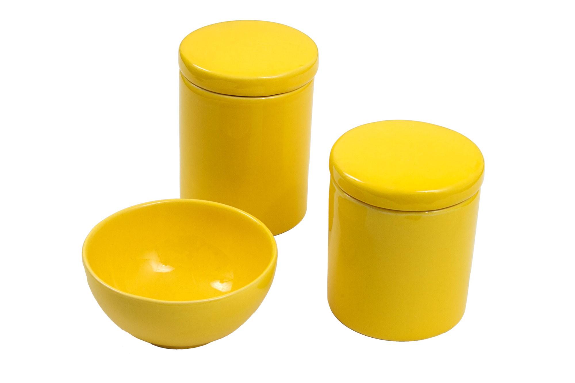Kit higiene amarelo