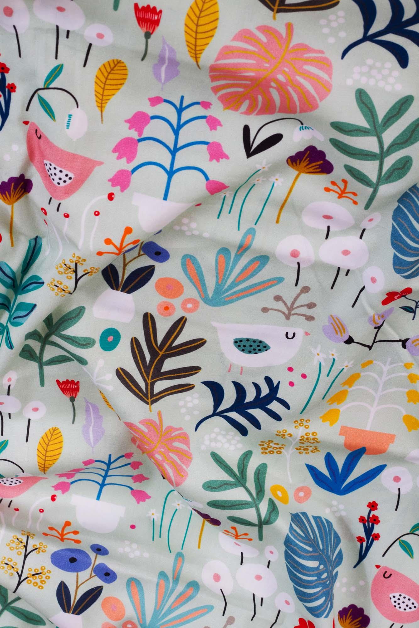 Lençol de cobrir berço Flora