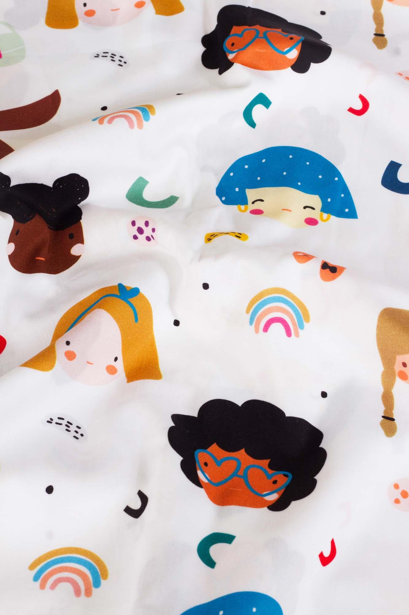 Lençol de cobrir berço Meninas