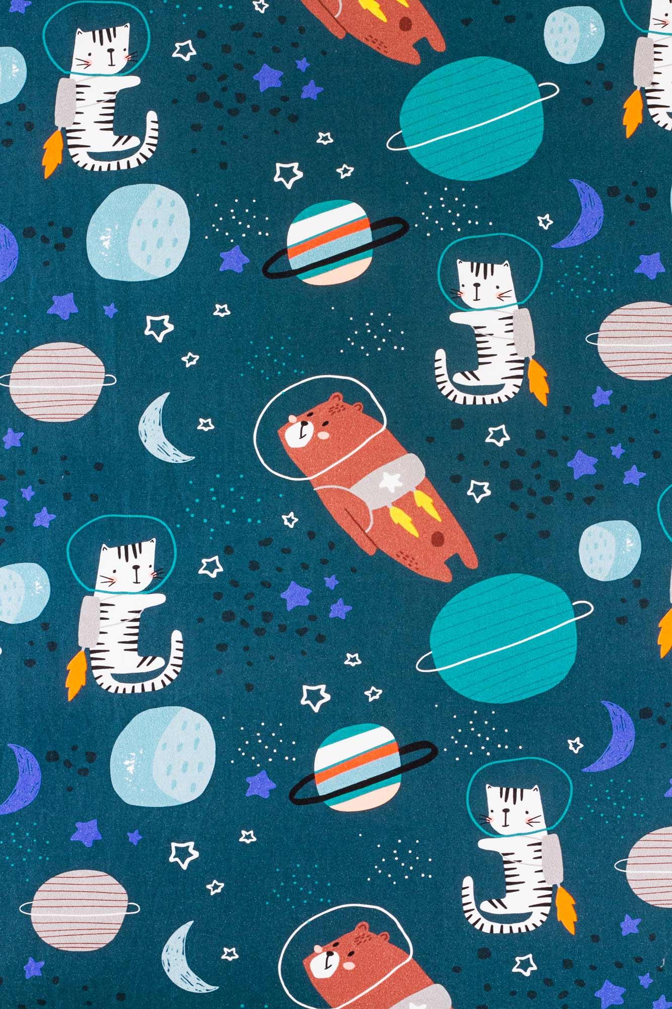 Lençol de cobrir mini cama Caça ao Tesouro Cósmico
