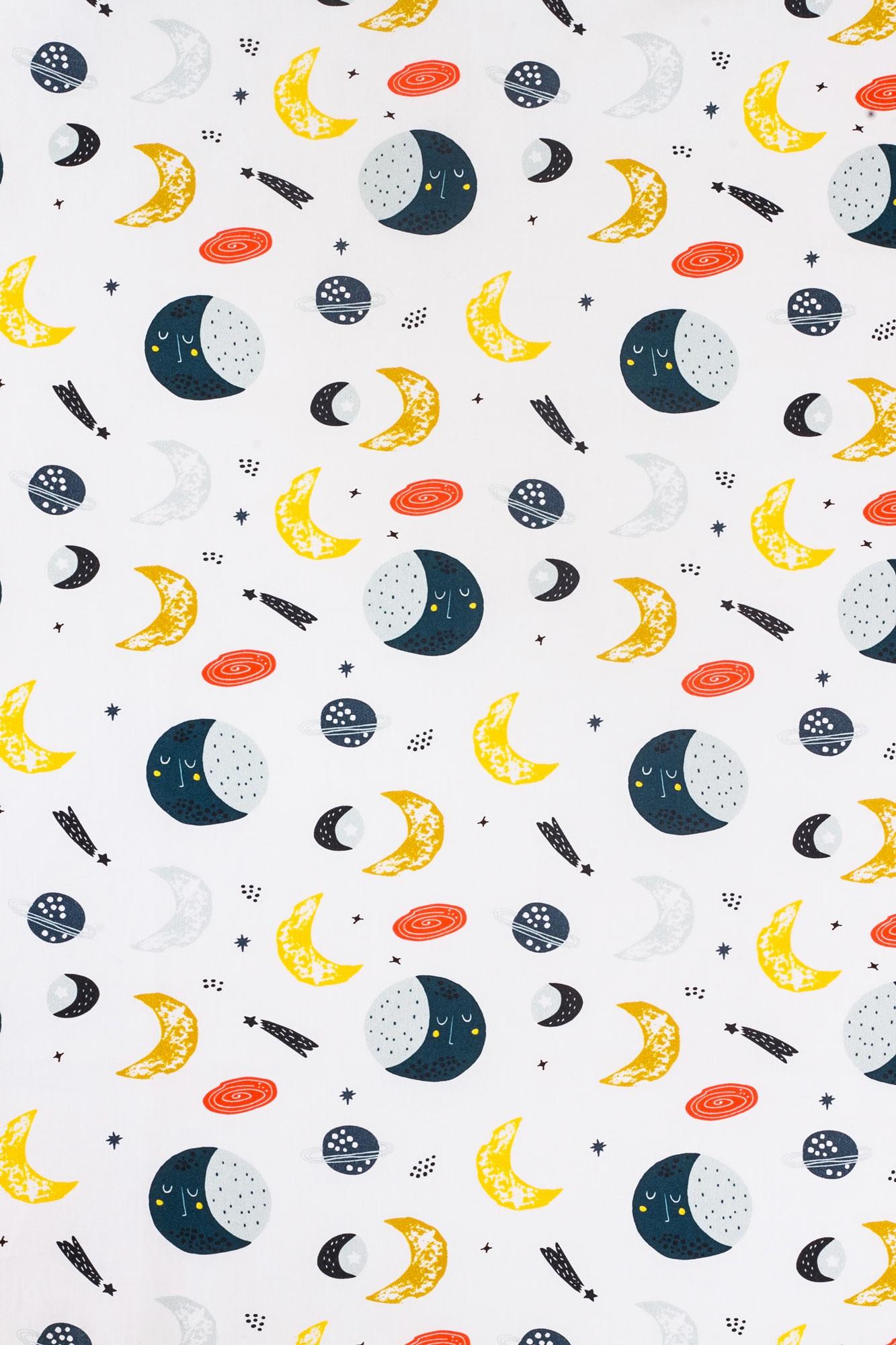 Lençol de cobrir mini cama Lua Azul