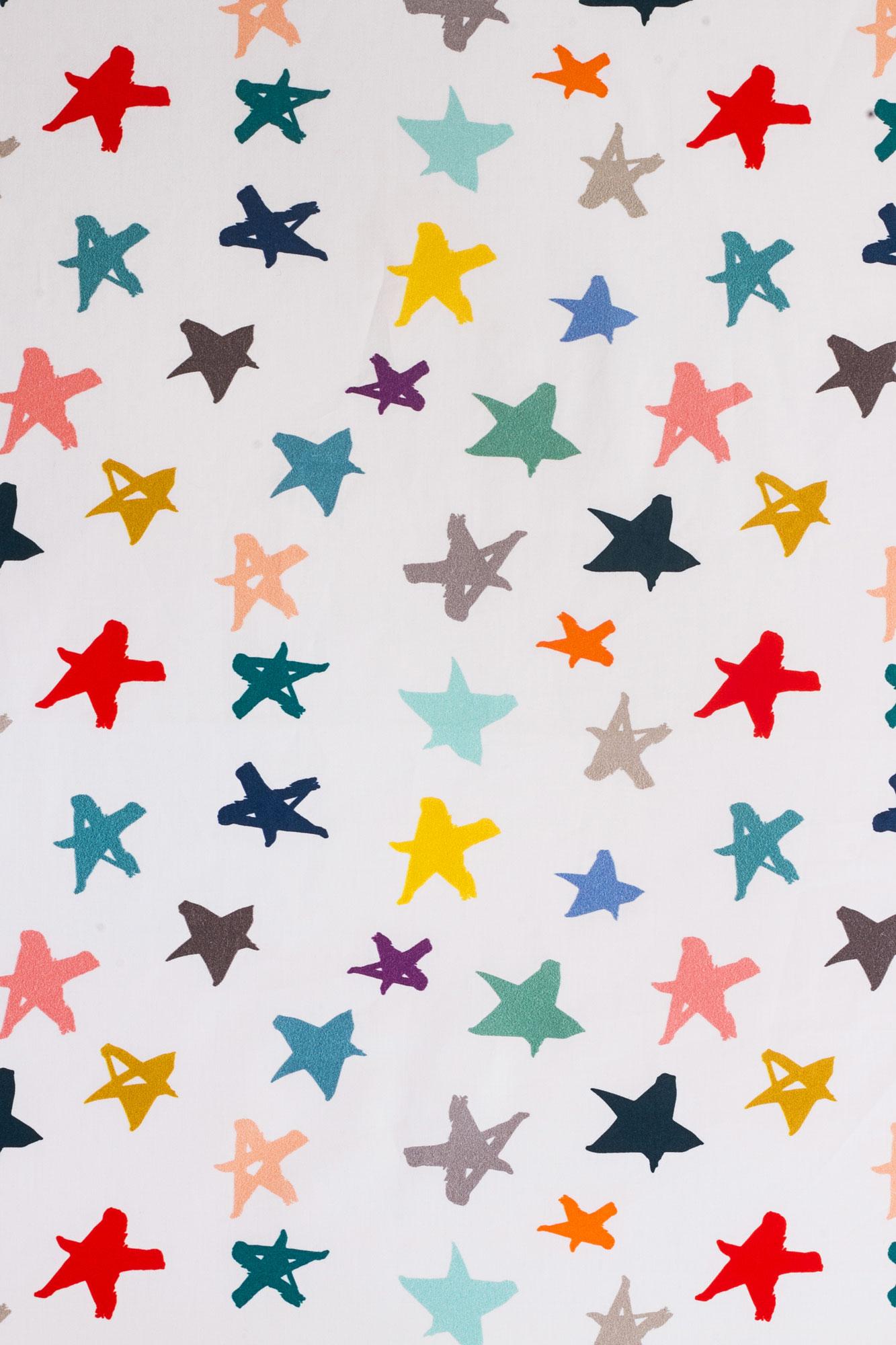 Lençol de cobrir solteiro Chuva de Estrelas