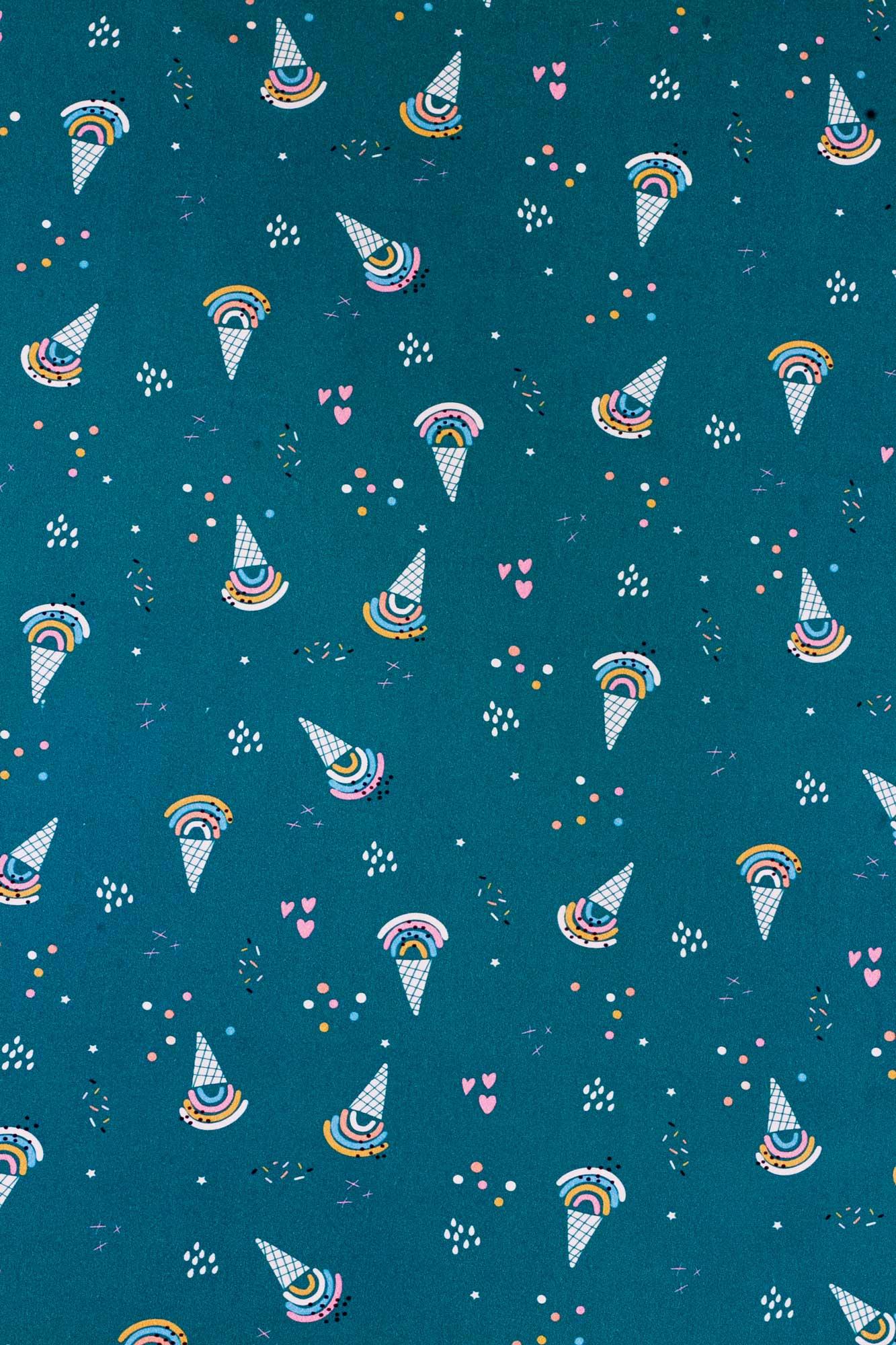 Lençol de cobrir solteiro Sorvete Colorê