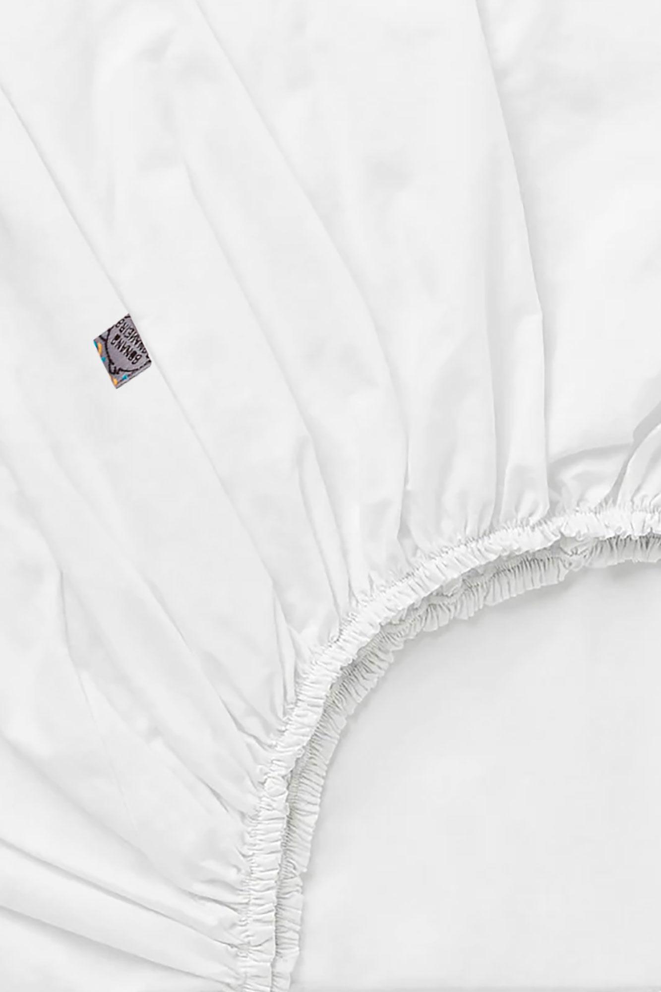 Lençol de elástico mini cama Branco