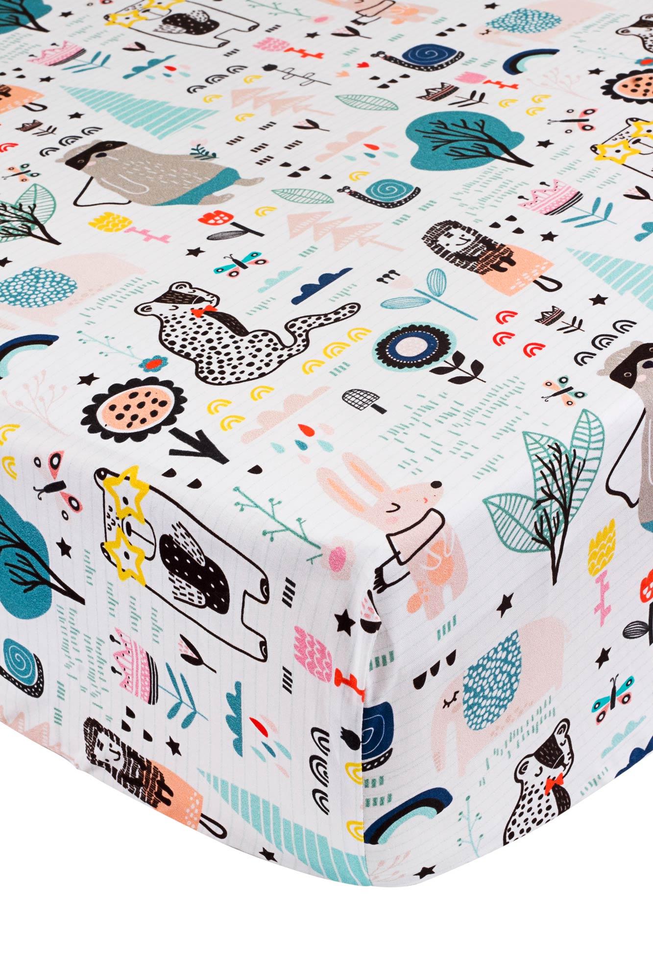 Lençol de elástico mini cama Mundo Fabuloso