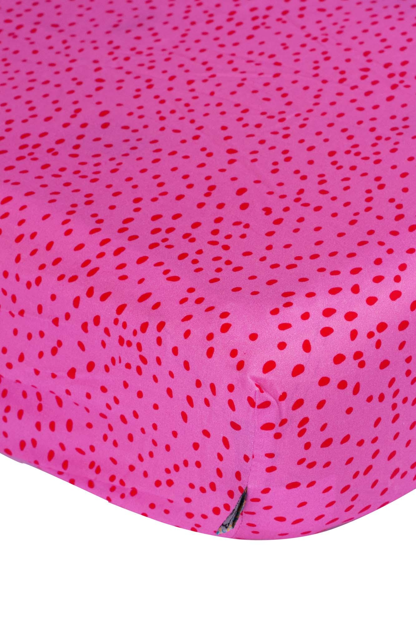 Lençol de elástico solteiro Flocos Rosa
