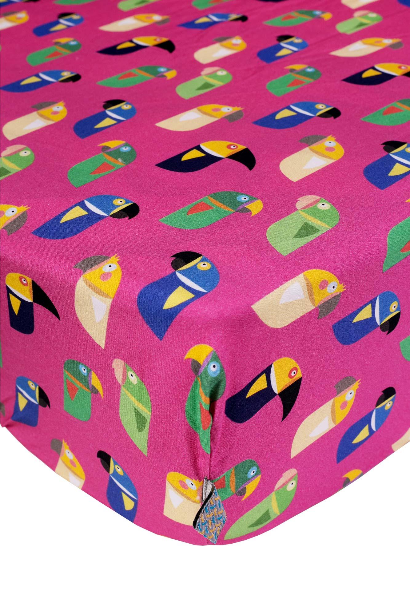 Lençol de elástico solteiro Pássaros Brasileiros
