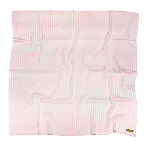 Manta de tricô geométrica rosa e branco