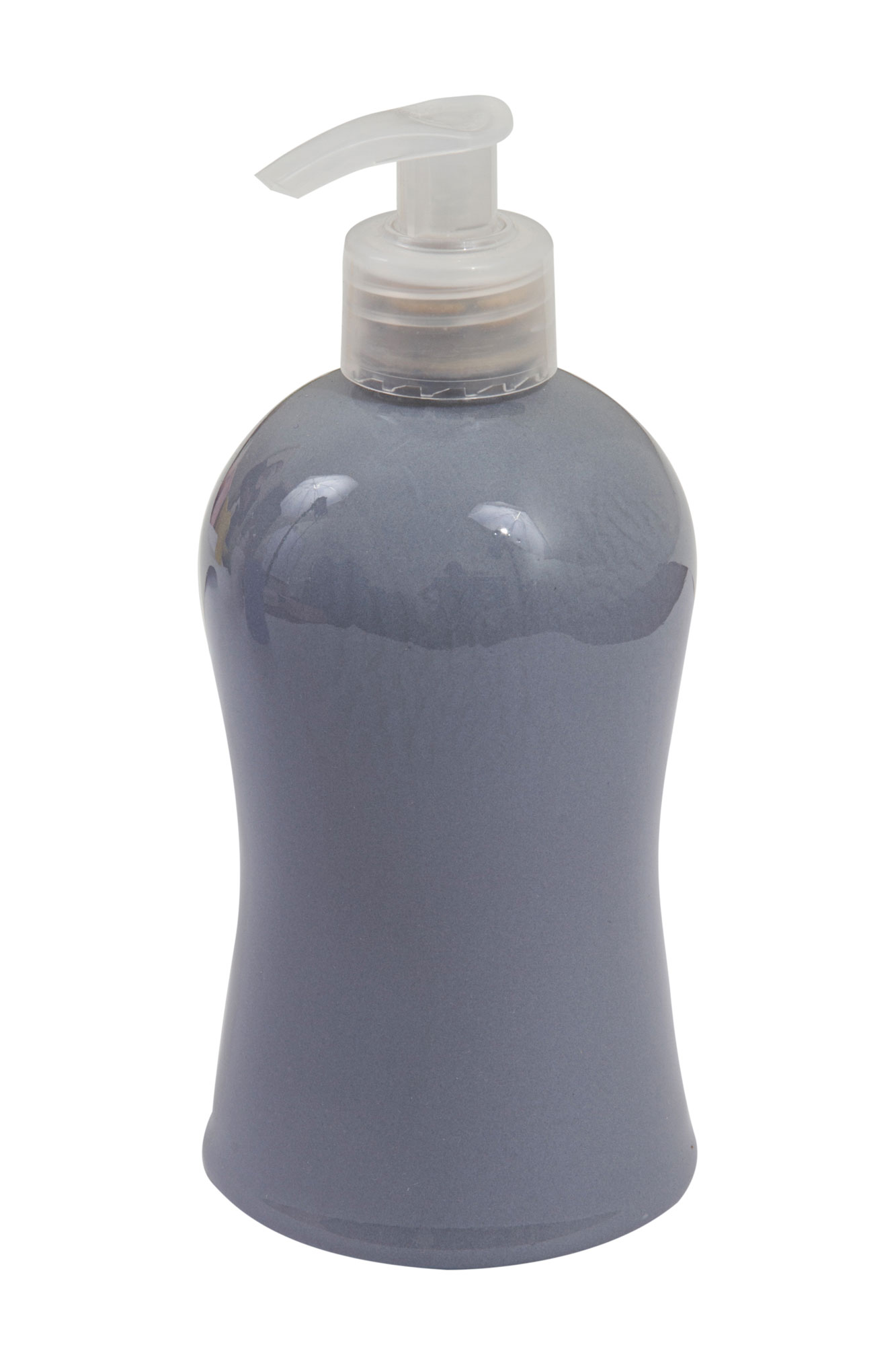 Porta sabonete líquido / álcool gel cinza