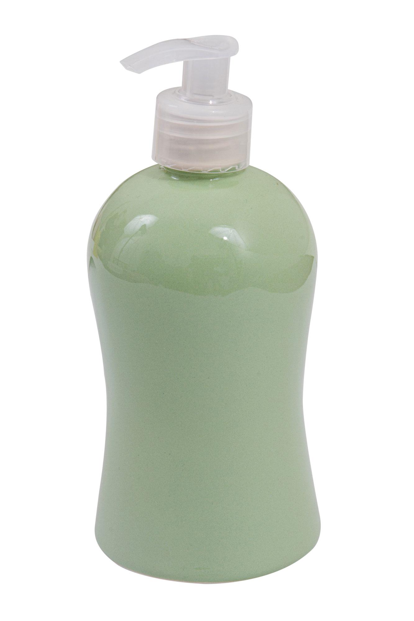 Porta sabonete líquido / álcool gel verde