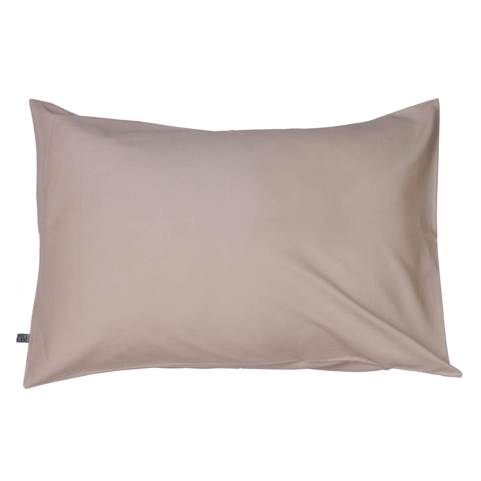 Porta travesseiro liso areia