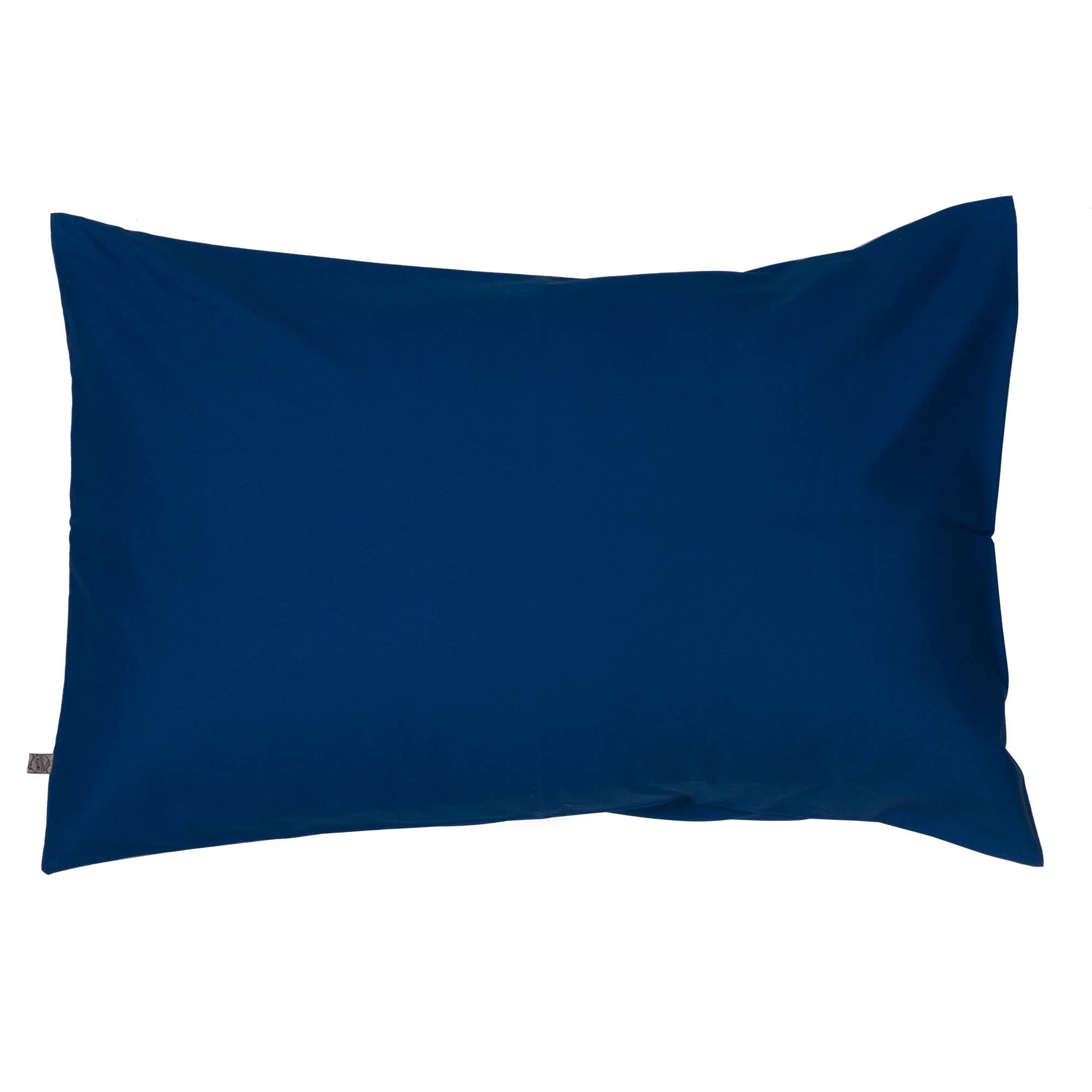 Porta travesseiro liso azul clássico
