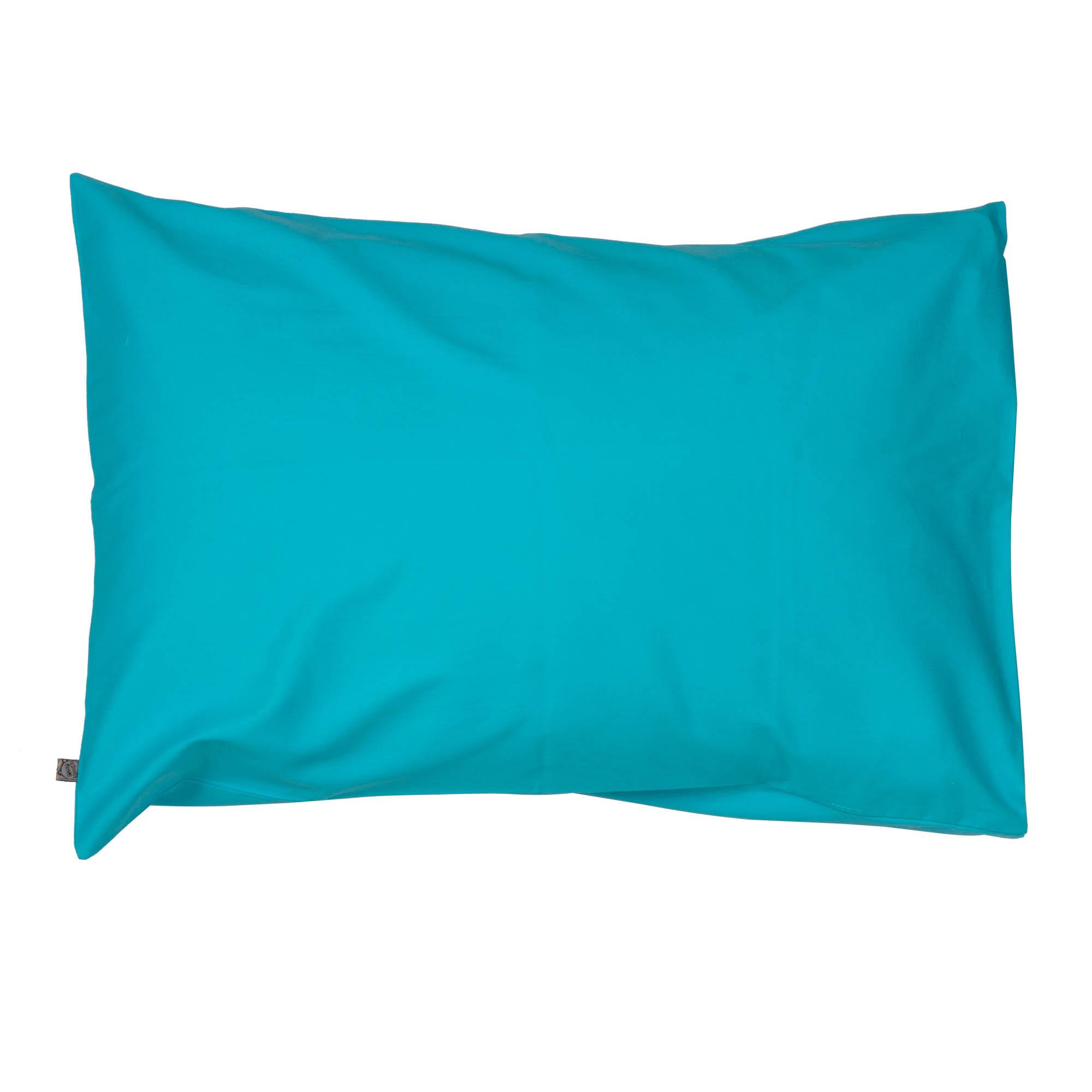 Porta travesseiro liso azul turquesa