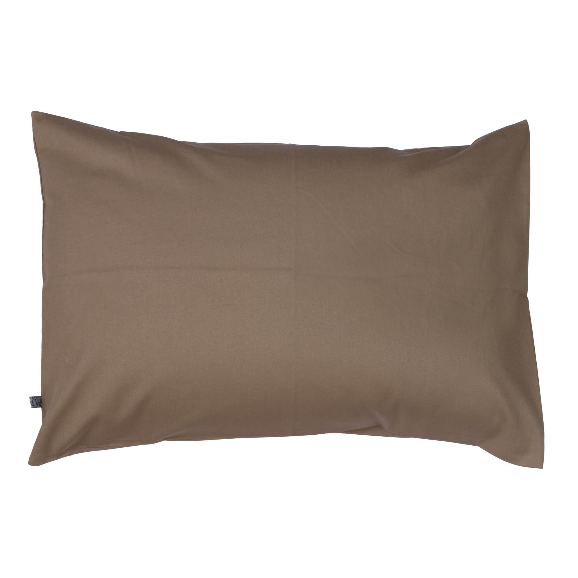 Porta travesseiro liso capuccino
