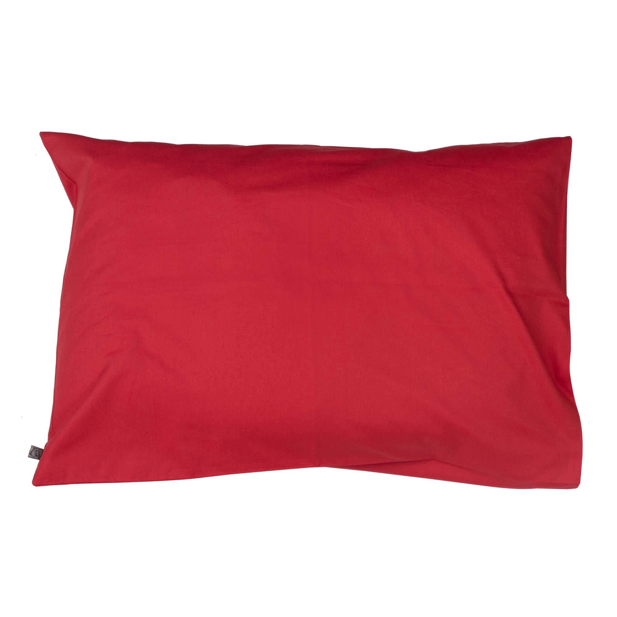 Porta travesseiro liso goiaba