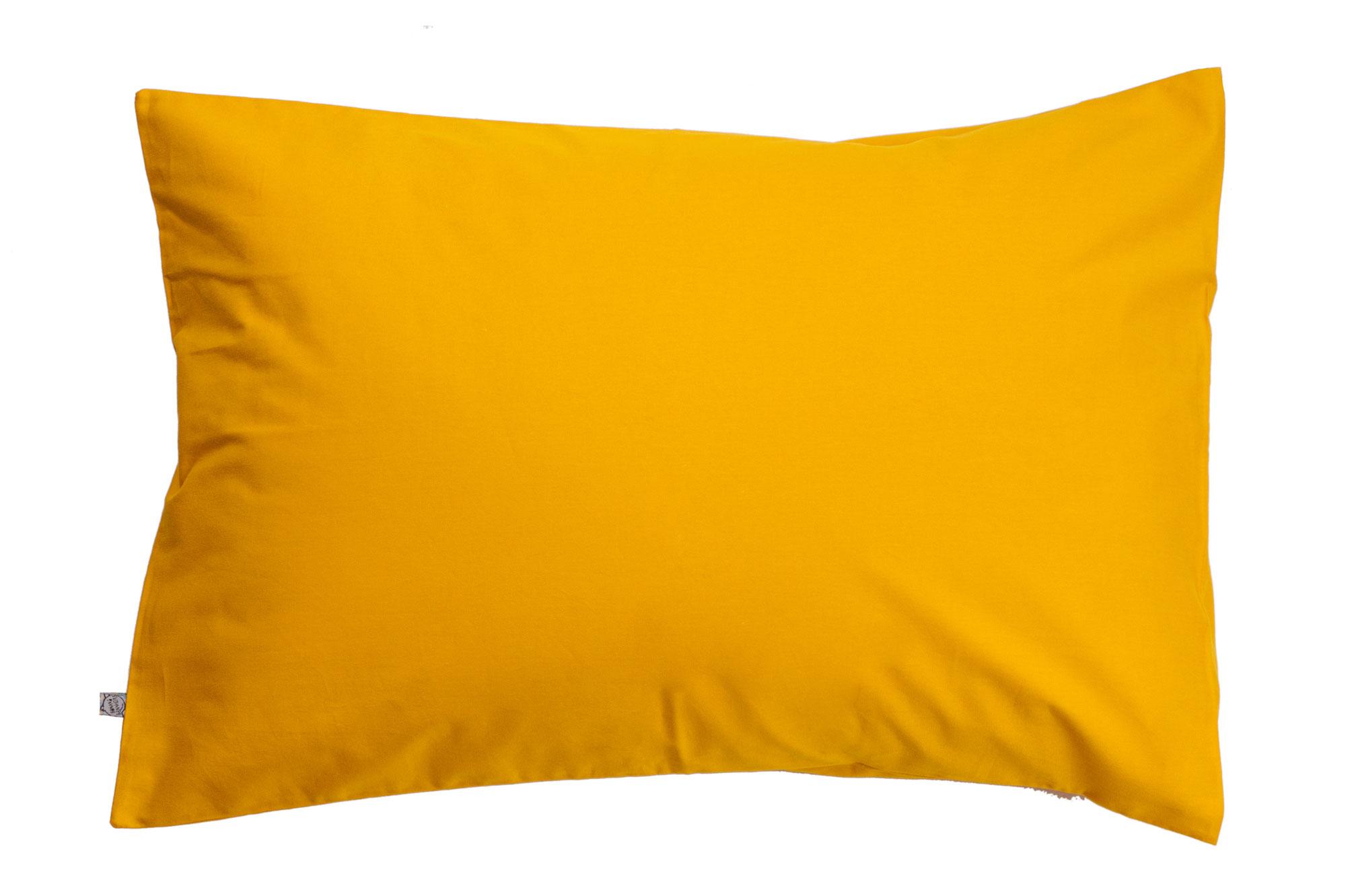 Porta travesseiro liso mostarda