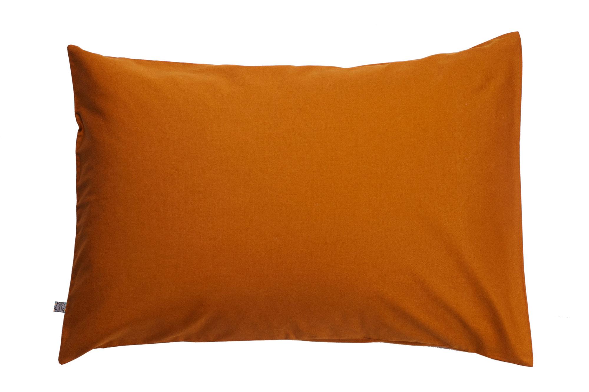 Porta travesseiro liso ocre
