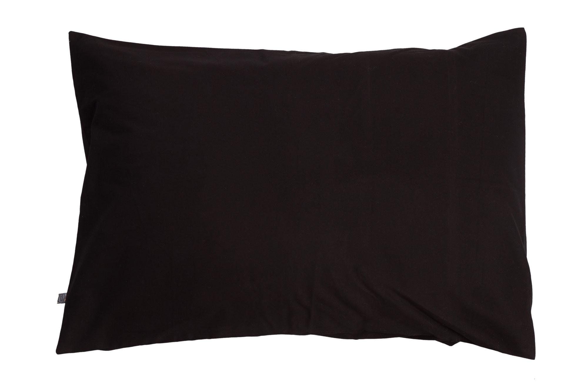 Porta travesseiro liso preto