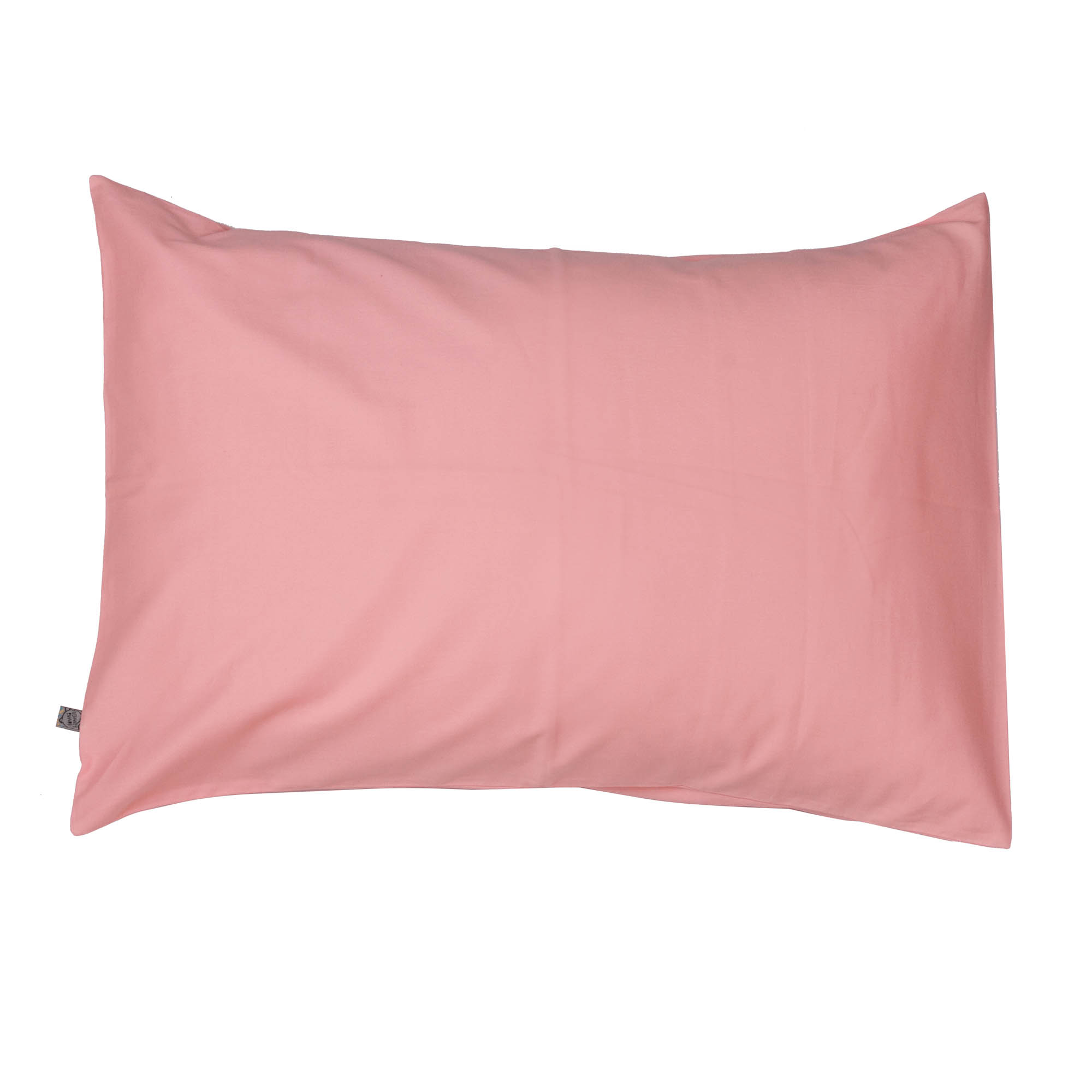 Porta travesseiro liso rosa algodão doce