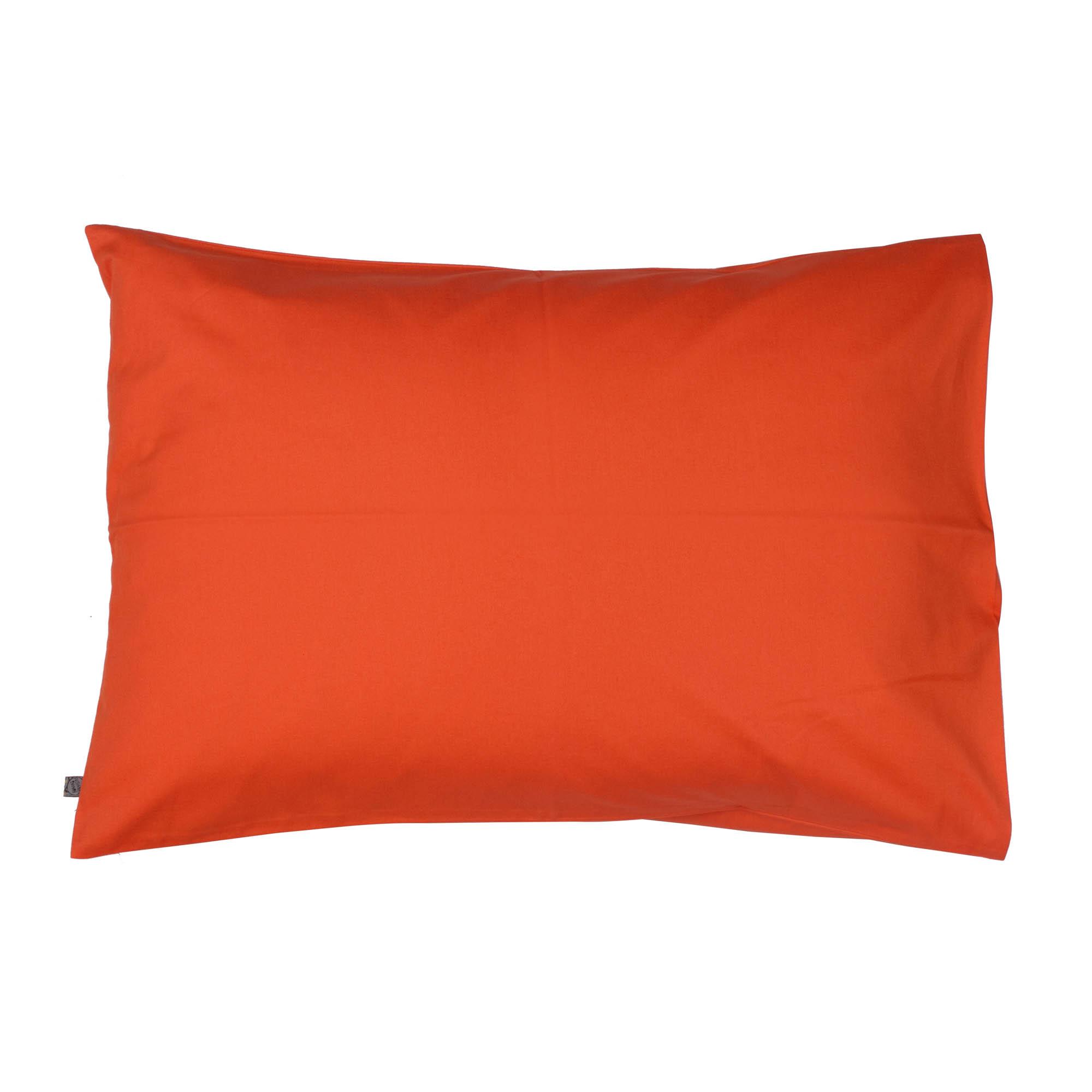 Porta travesseiro liso tangerina