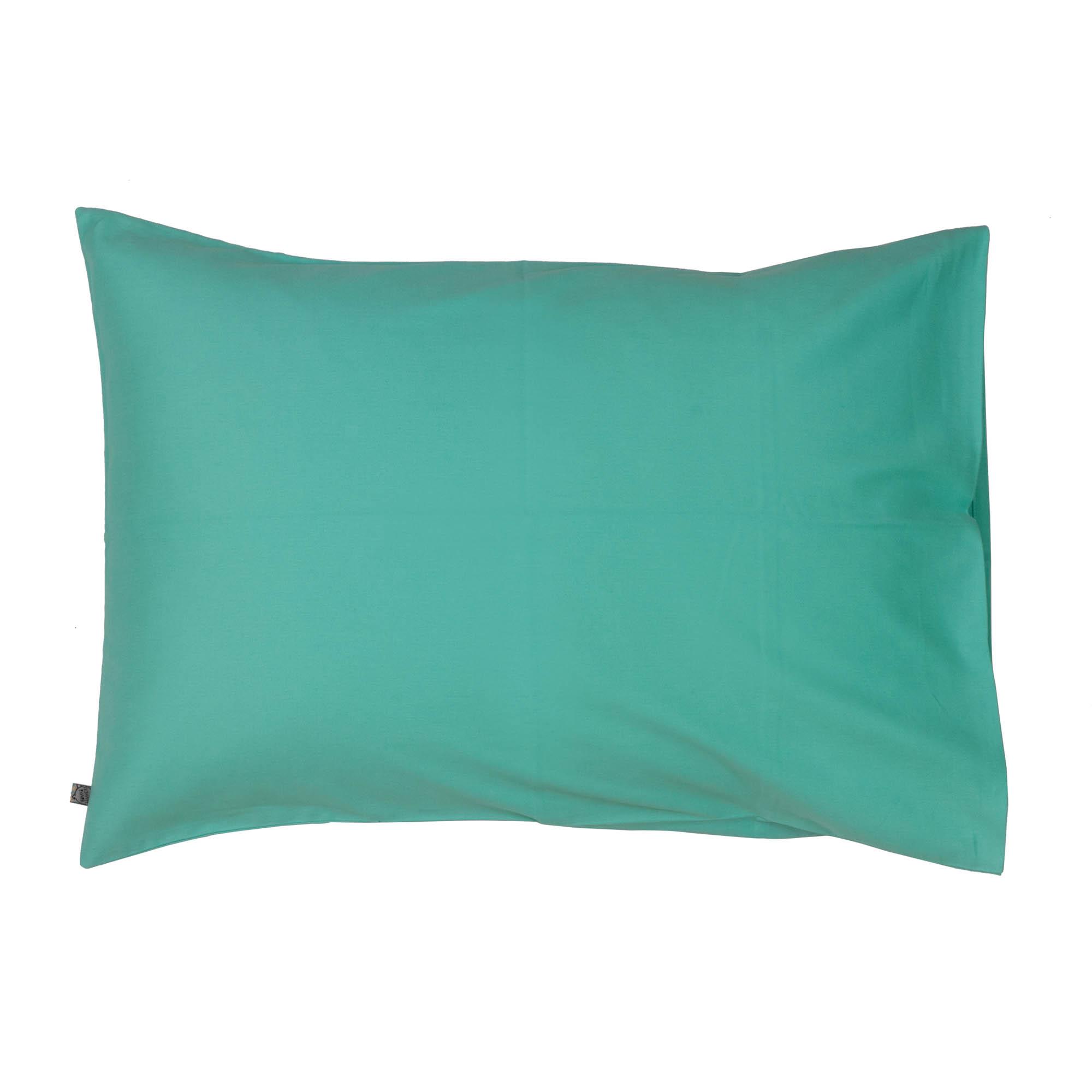 Porta travesseiro liso verde água
