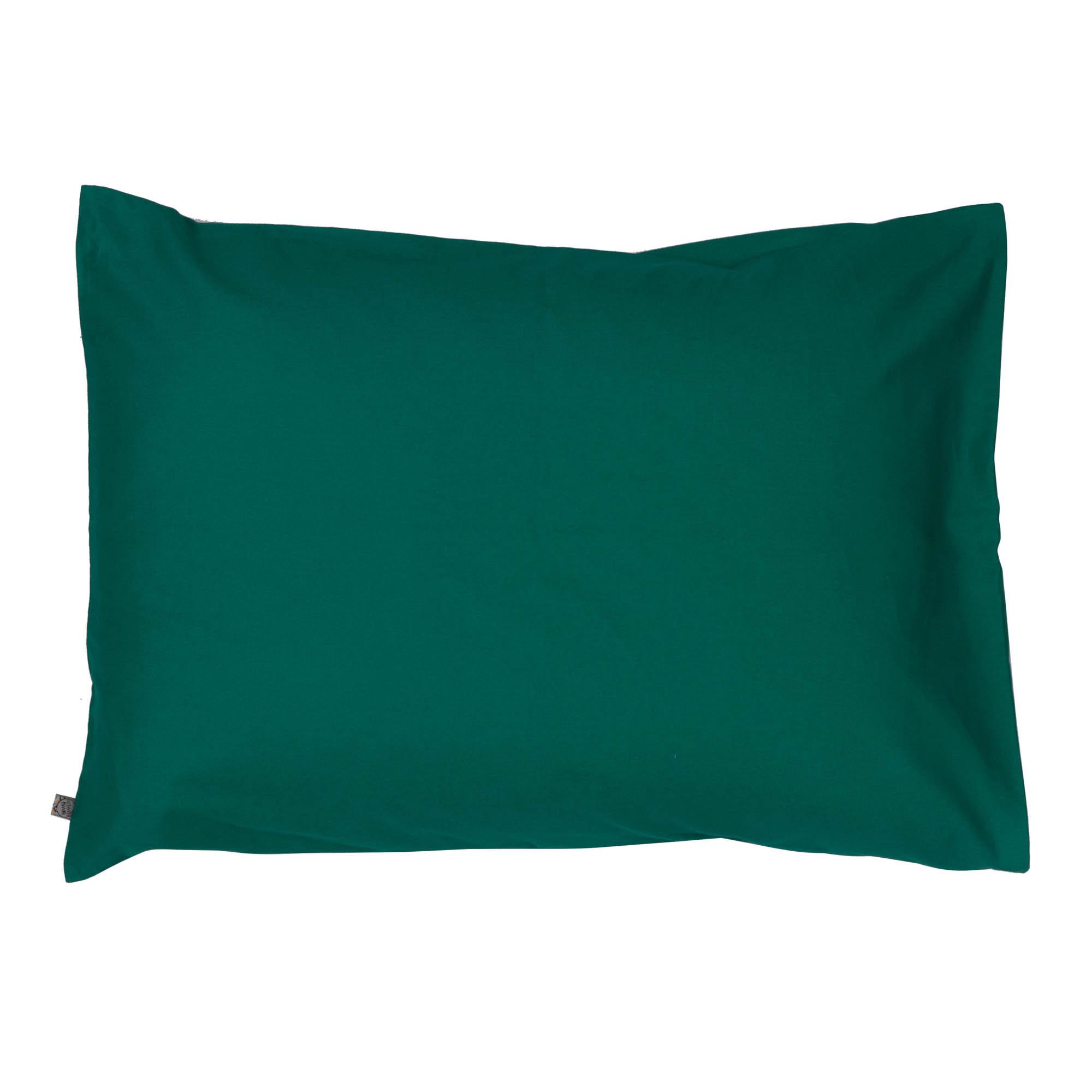 Porta travesseiro liso verde esmeralda